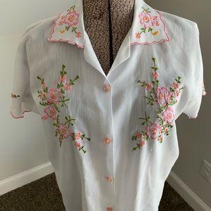 VTG Floral Embroidered Top